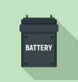 camera battery icon flat style vector image