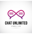 Chat Unlimited Concept Symbol Icon or Logo vector image vector image