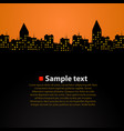 city skyline sunset simple and beautiful vector image vector image