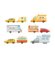 collection camper or commercial trailers car vector image