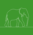 continuous line drawing elephant logo vector image