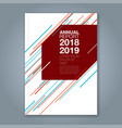 cover annual report 911 vector image vector image