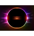Dark red shining cosmic ring vector image