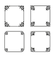 decorative square ornate design elements vector image