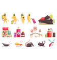 disinfection pest control set vector image