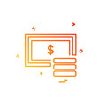 dollar icon design vector image vector image