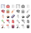 e-commerce purchase and sale cartoonmono icons vector image vector image