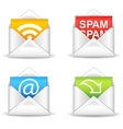 e-mail icons vector image vector image