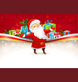 Festive background with Santa Claus vector image vector image