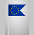 flag of european union national flag on flagpole vector image