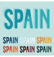 Flat design Spain vector image