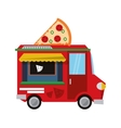 food truck delivery design vector image vector image