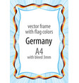 Frame and border of ribbon with the colors of the