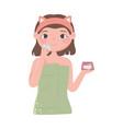 girl skincare cream vector image vector image