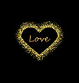 golden heart frame with empty space for your text vector image
