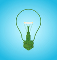 Grace silhouette of bulb lamp vector image vector image