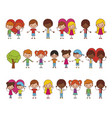 group girls and boys characters vector image