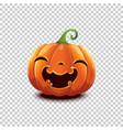 halloween pumpkin in cartoon style smiling vector image vector image