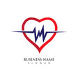 heart logo template vector image