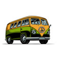 hippie vitage bus vector image