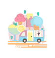 ice cream bar in flat style vector image vector image