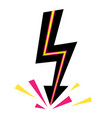 icons lightning bolt thunder sign with vector image vector image
