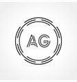 initial ag logo creative typography template
