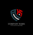 initial ak letter logo inspiration vintage shield vector image vector image
