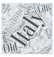italy ski vacations Word Cloud Concept vector image vector image