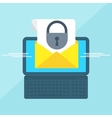 laptop with envelope lock vector image vector image