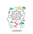 learning education modern concept vector image vector image