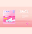 menstrual cycle sanitary tampons advertisement vector image vector image