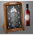 menu template on chalkboard - for alcohol vector image vector image