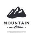 minimalist hipster mountain logo vector image vector image