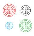 modern circle chinese pattern window frame vector image