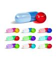 Multicolored capsules vector image vector image