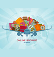 online booking flat concept vector image vector image