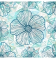 Ornate blue flowers on abstract triangles vector image vector image