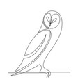 owl continuous line graphic cartoon vector image vector image