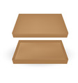 packaging top view open brown packaging box on vector image vector image