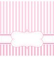 Pink strips valentines card or wedding invitation vector image vector image