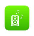 portable music speacker icon digital green vector image vector image