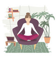 remote work from home freelance self-quarantine vector image vector image