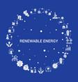 renewable energy icon set infographic template vector image