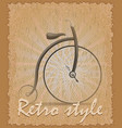 retro style poster old bike vector image vector image