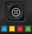 Sad face Sadness depression icon symbol Set of vector image vector image