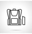 School bag simple line icon vector image