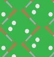 Seamless pattern baseball vector image vector image