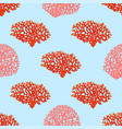 seamless pattern from red and pink corals sea vector image
