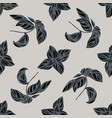 seamless pattern with hand drawn stylized basil vector image vector image